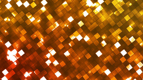 Broadcast Twinkling Fire Light Diamonds, Orange, Abstract, Loopable, 4K Animation