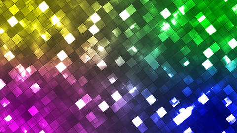 Broadcast Twinkling Fire Light Diamonds, Multi Color, Abstract, Loopable, 4K Animation