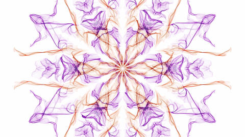 Color changing beautiful watercolor patterns, fractal ornament on white Animation