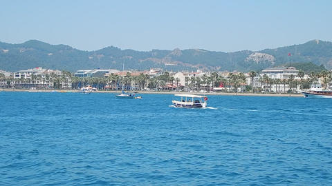 Tourism in Marmaris resort in Turkey nature and texture Live Action