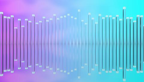 Illustration of glass poles equalizer Photo