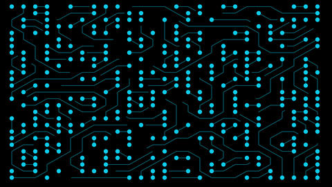 Animated blue Computer Circuit Board (loopable) Animation