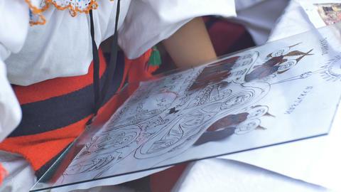 Artisan Painting Religious Icon Live Action
