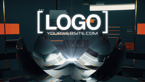 Techy Logo Reveal Dark After Effects Template