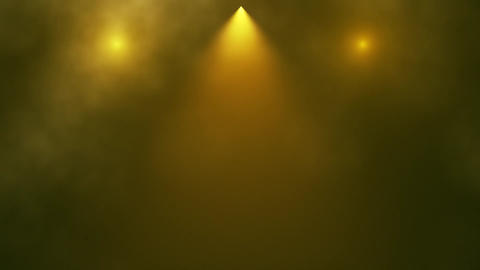 Gold Stage Lights and Smoke Intro Logo Background Animation