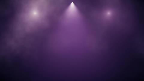 Purple Stage Lights and Smoke Intro Logo Background Animation