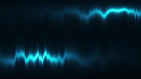 Blue Vertical Distortion of Light VJ Loop Motion Background Animation