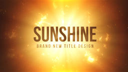 Sunshine Title Design Motion Graphics Template