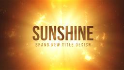 Sunshine Title Design モーショングラフィックステンプレート