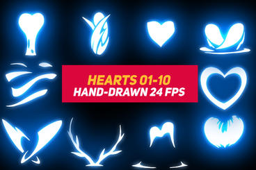 Liquid Elements 3 Hearts 01-10 After Effects Template