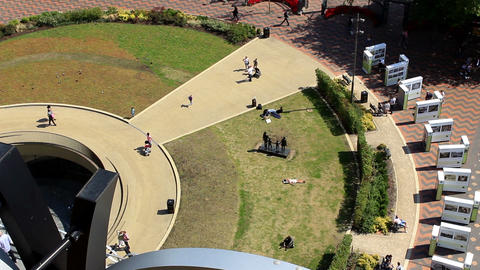 Public square on a sunny day. View from above - Centenary Square Footage