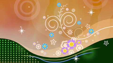 Floral Abstract Background Animation