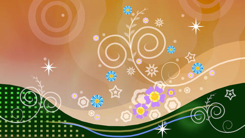 Floral Abstract Background Stock Video Footage