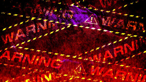 warning tape flame heat GIF