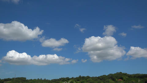 Blue sky and clouds timelapse UHD-St Footage
