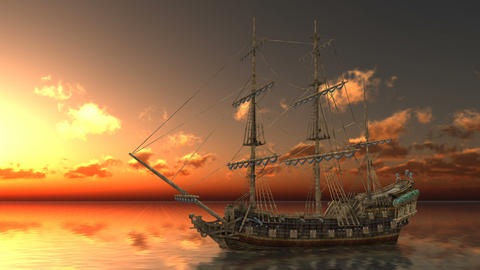 Sailing ship Animation