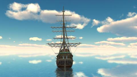Sailing ship Animation
