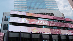 Foreign Exchange Financial Ticker stock footage