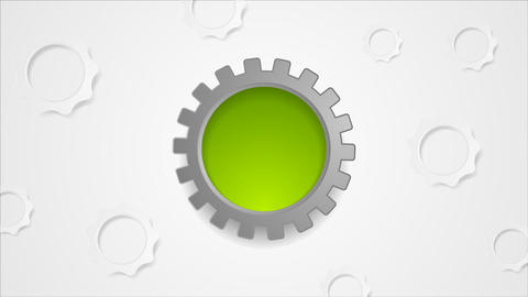 Hi-tech gears rotation video animation Animation