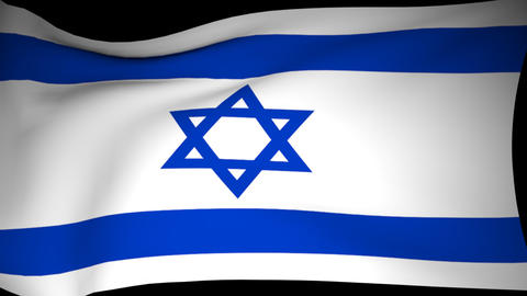 The Flag Of Israel Is Developing CG動画素材