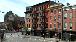 New York City 691 typical apartment buildings in Greenwich Village 8th Avenue Footage