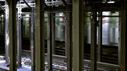 New York City 693 departure of a Metro train Manhattan underground Footage