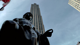 New York City 700 Rockefeller Center Comcast Building with statue Footage