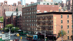 New York City 658 street view of the 10th avenue, Chelsea Footage