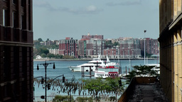 New York City 667 Hudson River & Hoboken seen from High Line Footage