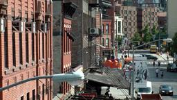 New York City 681 industrial buildings in Greenwich village Footage