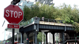 New York City 684 end point of the High Line in Greenwich Village Footage