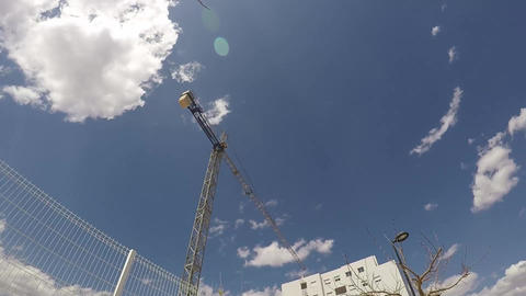 Bridge crane rotating armpen Footage