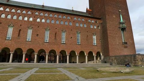 Stadshuset / City Hall, Stockholm Sweden Footage