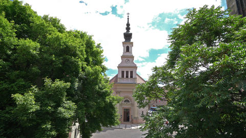 Lutheran Church in Budapest Footage