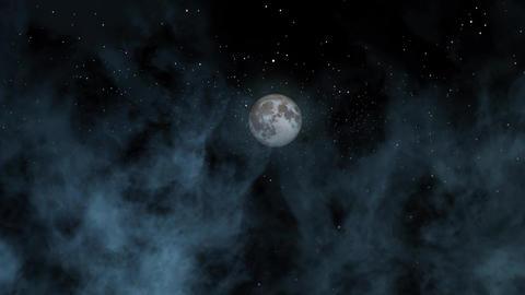 Night Sky Clouds Stock Video Footage