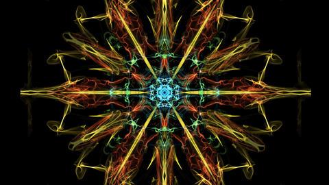 Beautiful mandala multicolored fractal, symmetric... Stock Video Footage