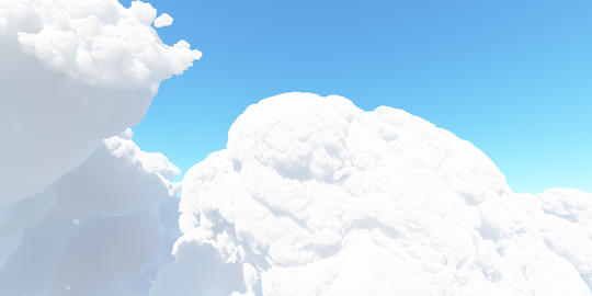 Big white cloud against the sky 3D render Photo
