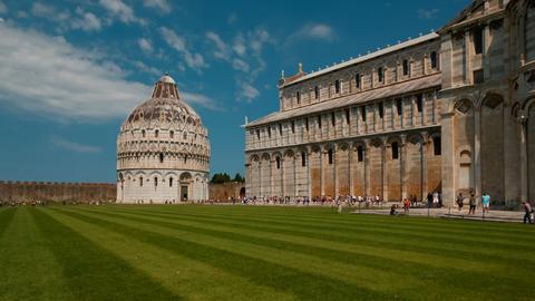 Battistero di San Giovanni, Pisa, Italy Footage