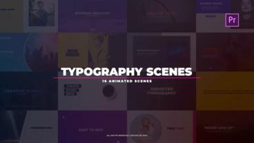 Typography Scenes Premiere Proテンプレート