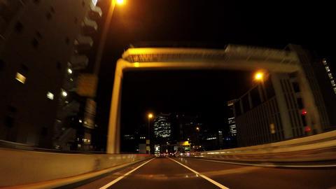Japanese cityscape. Night Bill County in Tokyo ビデオ
