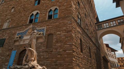 Palazzo Vecchio, Florence, Tuscany, Italy Footage