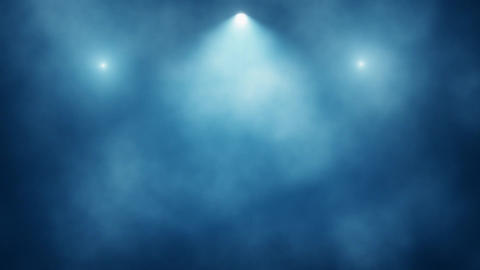 Blue Stage Lights and Smoke VJ Loop Motion Background Animation