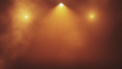 Orange Gold Stage Lights and Smoke VJ Loop Motion Background Animation