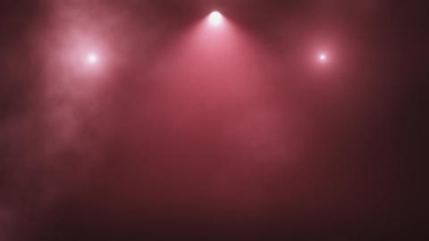 Red Stage Lights and Smoke VJ Loop Motion Background Animation