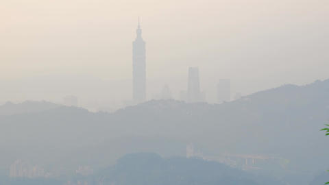 air pollution in taipei city Footage