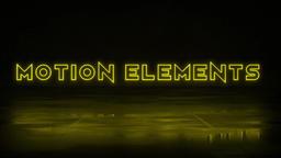 Neon Titles モーショングラフィックステンプレート