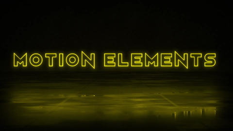 Neon Titles Motion Graphics Template