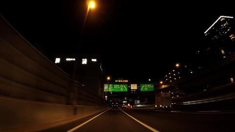 Japanese cityscape. Near the Shibaura Junction, the Metropolitan Expressway ビデオ