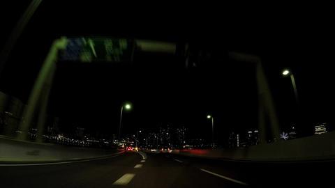 Japanese cityscape. Travel image of the Metropolitan expressway. Near Daiba exit ビデオ