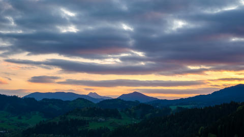 Colorful sunset sky over landscape Time lapse 영상물